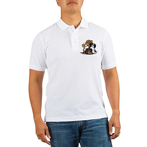 Tri Color Pique Polo - CafePress - CKCS 2Nd Generation - Golf Shirt, Pique Knit Golf Polo White
