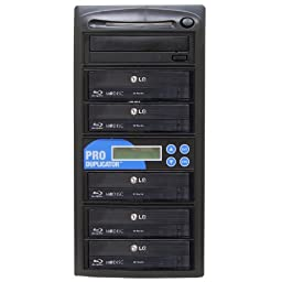 Produplicator 1 to 5 Blu-ray BD BDXL M-Disc CD DVD Duplicator (with Nero Essentials Burning Software)