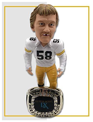 Jack Lambert (Pittsburgh Steelers) Super Bowl IX Championship Ring Base NFL Bobblehead Exclusive #/750