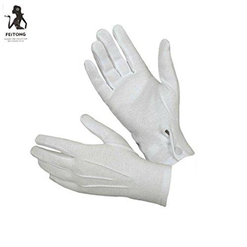 Vcenty Police Tuxedo Honor Guard Parade White Formal Gloves Men (Superhero Costumes For Women Ideas)