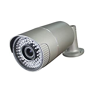Motorized 1080p CCTV TVI Bullet Camera with 2.8-12mm Zoom Lens, Full HD Waterproof Surveillance Security Outdoor,72 IR LEDs,Metal Grey Housing Case