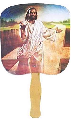 Swanson Christian - Parlor and Church Hand Fan - Traditional Style - I Am The Way - Image of Jesus (50) by Swanson Christian