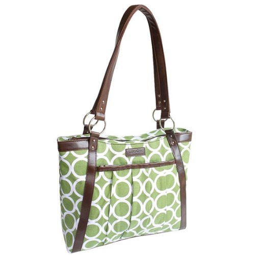 kailo-chic-casual-154-laptop-tote-green-circles