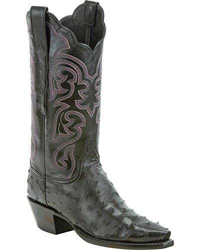 Ladies Full Quill Ostrich Boots - Lucchese Women's Handmade Audrey Full Quill
