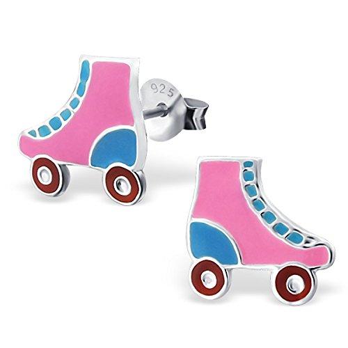 So Chic Bijoux © Boucles d'oreilles Patins à Roulettes Rollers Coloré Argent 925
