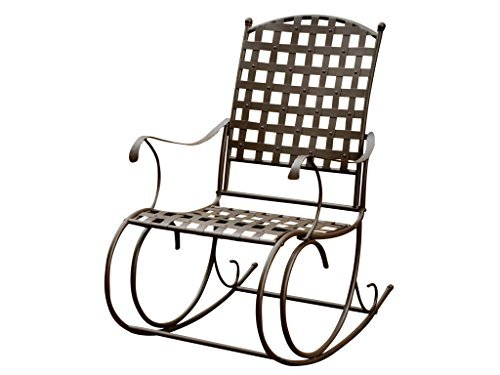 - International Caravan Santa Fe Wrought Iron Outdoor Patio Rocker