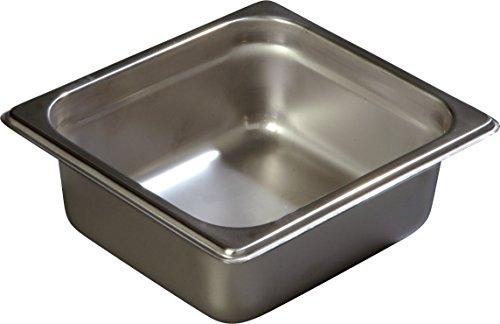Carlisle Dining Room Table - Carlisle 607162 Stainless Steel 18-8 DuraPan Light Gauge 1/6 Size Anti-Jam Food Pan, 1.6 quart Capacity, 2.5