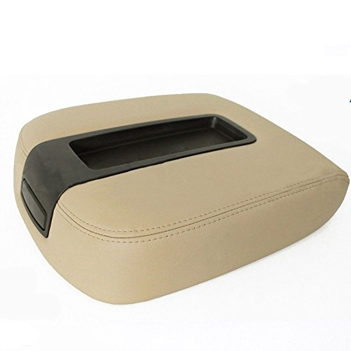 Motosupply Comfortable Armrest Center Console Leather Fits Chevy Tahoe, Suburban, Escalade 07-13 Tan ()