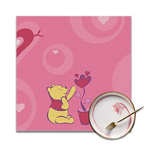 (LIUYAN Placemats Set of 4 - De Winnie Pooh Place Mats for Kitchen Dining Table Decoration)