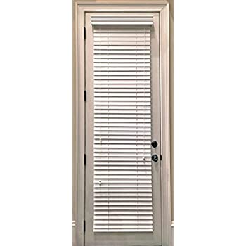 Custom-Made Faux Wood Horizontal Window Blinds for Doors Snow White (Stark