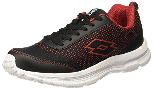 Lotto Men's Splash Black/Red Running Shoes-6 (AR4697-060)