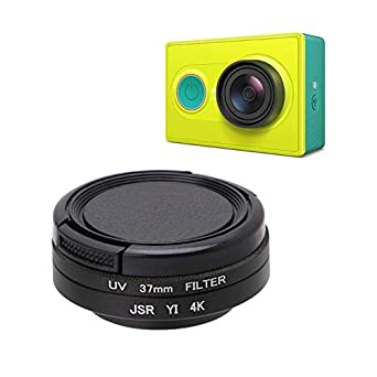 Adapter Ring for YI 4K Action Sports Camera Camera Lens Filter kit CPL+UV 37mm Protective Lens Filter with Lens Cap