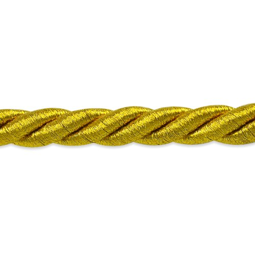 Expo International 20-Yard Holly Twisted Cord Trim Embellishment, 3/8-Inch, Antique Gold