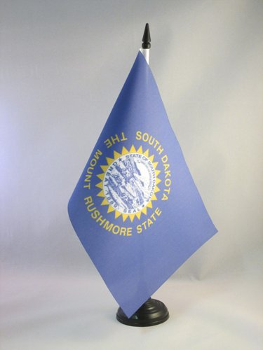 USA AZ FLAG Bandiera da Tavolo Dakota del Sud 21x14cm Piccola BANDIERINA Stato Americano Stati Uniti 14 x 21 cm