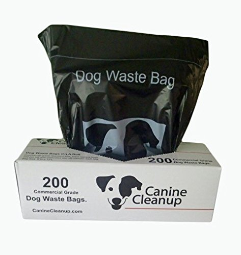 Canine Cleanup Dog Waste Roll Bags, Pet Waste Station Refill Bags 10 rolls of 200, Total 2,000 bags