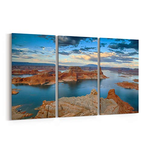 Lake Powell Canvas Print Lake Powell Canvas Art Lake Powell Wall Art Canvas Multiple Sizes Gallery Wrapped Canvas on Pine Wooden Frame (Lake Powell Print)