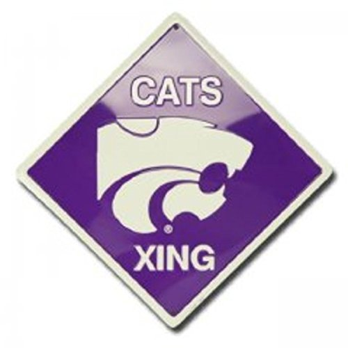 (Dixie Kansas State Wildcats Xing Metal Parking Sign)
