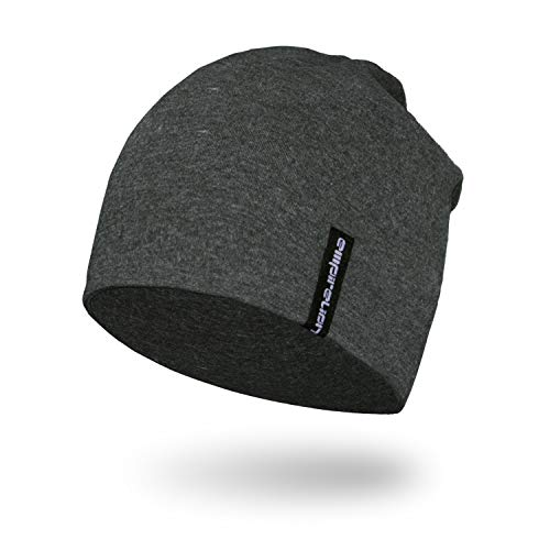 - Empirelion Slouch Beanies Knit Hat Thin Running Lightweight Skull Cap for Men Women (Dark Grey Melange)