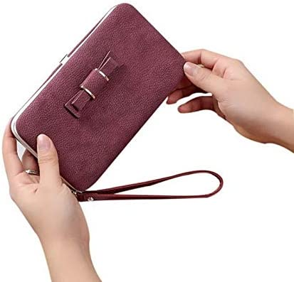 Color: red NIBESSER 10 Colors Sweet PU Leather Purse Small Clutch Bow Coin Purse Women Portable Purse Girls Kawaii Bag Portable Money Pouch Gimax Coin Purses