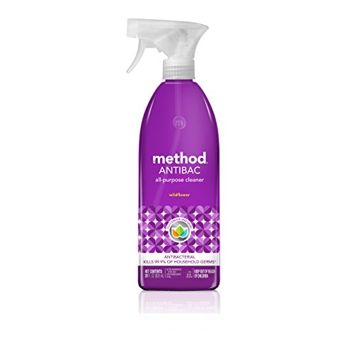 Method Antibacterial All Purpose Cleaner, Wildflower, 28 Ounce (Pack 8) (Wildflowers Knob)