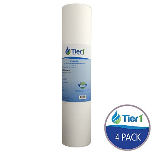 Tier1 DGD-5005-20 5 Micron 20 x 4.5 Spun Wound Polypropylene Sediment Hydronix SDC-45-2005 Comparable Replacement Water Filter 4 Pack - 20 Sediment Water Filters