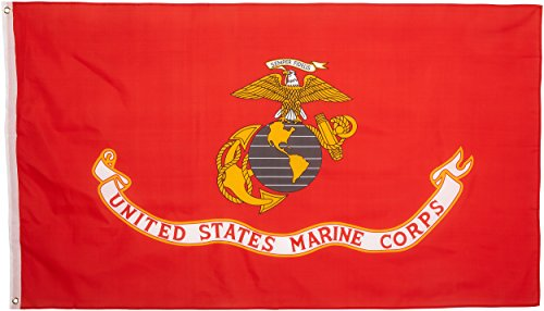 Valley Forge Flag Made in America 3' x 5' Nylon United States Marine Corp Flag