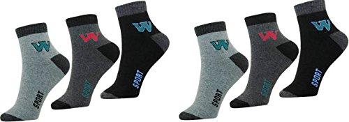 SUPER DEAL BAZZAR STORE Men #39;s Ankle Length Cotton Socks   Pack of 6  Multicolour, Free Size