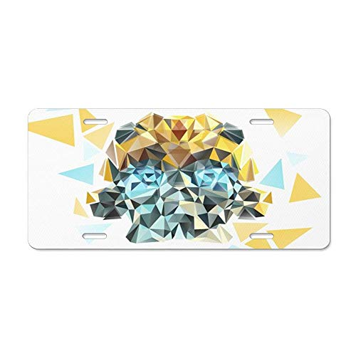 Auto Tag Aluminum Sign - Metal License Plate for Women/Men, Front License Plate 6x12 Inches - Bumblebee Low Poly Portrait]()