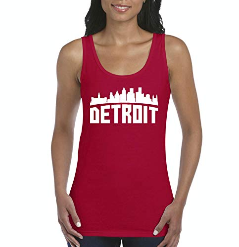 Mom's Favorite Detroit Most Visited US Cities Women's Tank Top Clothes (LR) Red]()