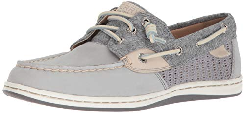 Medium US Chambray Top 7 Songfish Sperry Boat Women's Shoe Grey Sider zqSvvwWI7