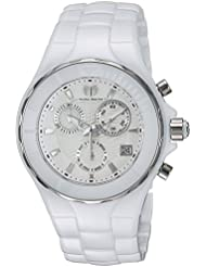 Technomarine Womens Cruise Quartz Ceramic Casual Watch, Color:White (Model: TM-115314)