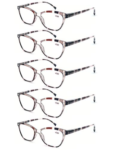 MODFANS Reading Glasses Women 4 Pack Ladies Readers Spring Hinge Come with Pouch