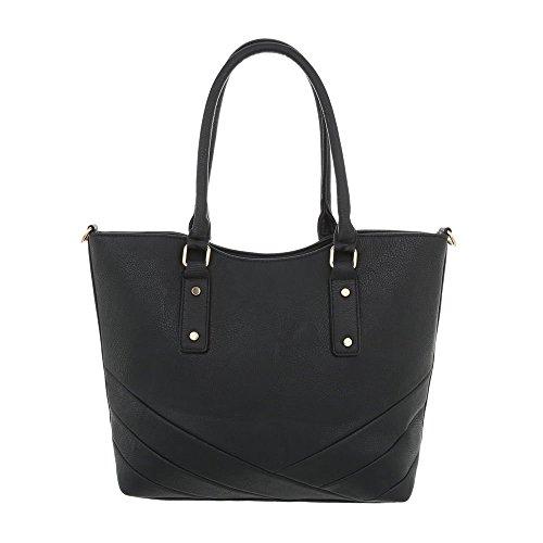 Ital porter Design pour à Sac à femme Noir l'épaule xwBfaqx