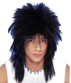 Punk Rocker Black Unisex Wig (Unisex Long Rocker Wig)