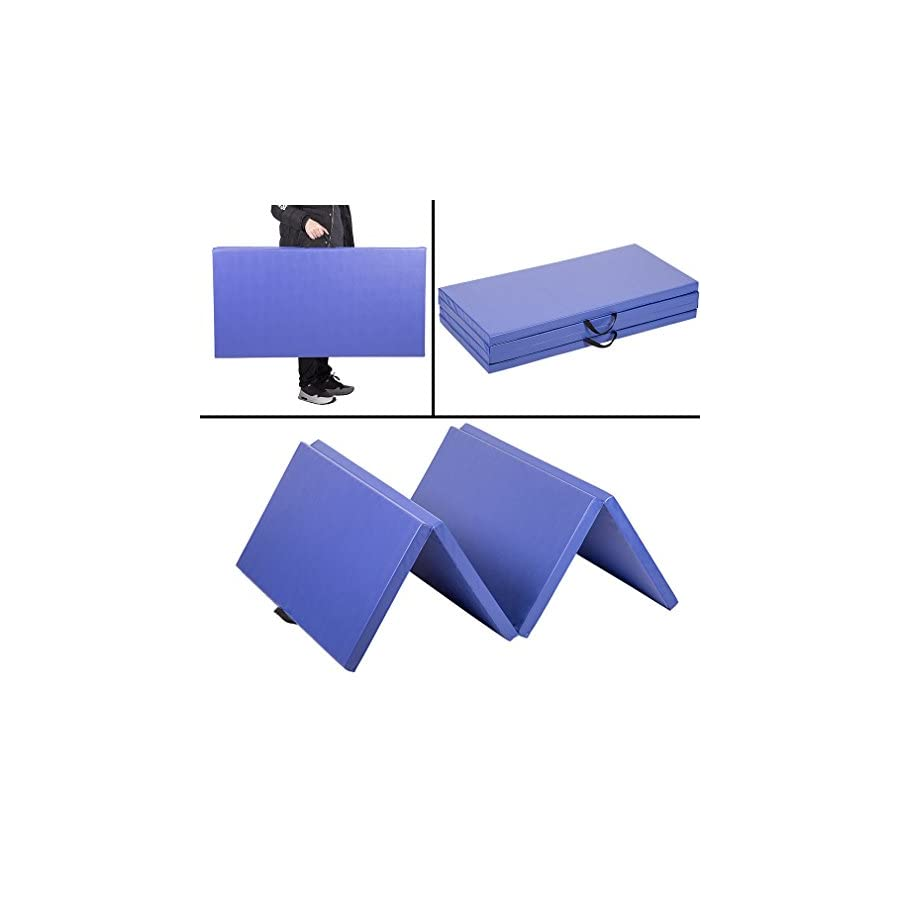 PayLessHere 4'x8'x2 Thick Folding Panel Gymnastics Mat Gym Fitness Exercise Mat