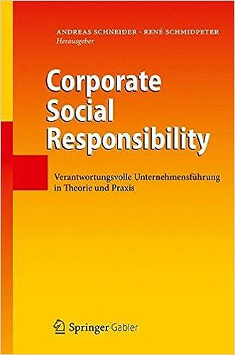 Cover des Buchs: Corporate Social Responsibility: Verantwortungsvolle Unternehmensführung in Theorie und Praxis
