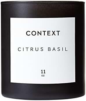 CONTEXT SKIN Citrus Basil Candle, 11 Ounce