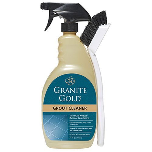 Granite Gold best grout cleaner for tile and grout with grout cleaning brush to agitate dirt and grime, 24 (Gold Granite)