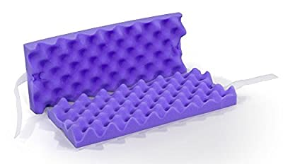 MediChoice Foam Ulnar Nerve Protector, Convoluted Foam, Velcro Straps, Disposable, Single Use, Purple, 1314P40411 (Pair of 2)