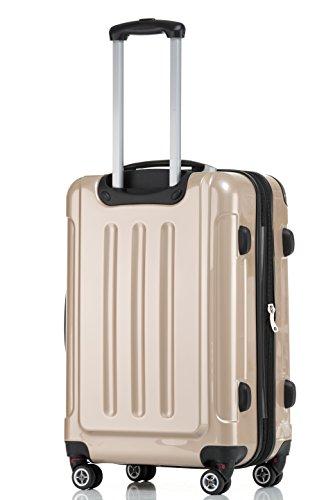 41GUQmvyFeL - Beibye - Juego de 3 maletas rígidas (tamaños XL, L y de mano), color lila