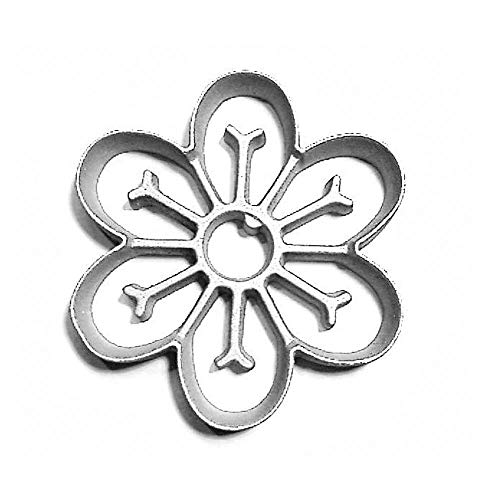 Kitchen Supply Cast-Aluminum Rosette-Iron Mold, Daisy 5-3/8 Inch Across x 3/4 Inch High ()