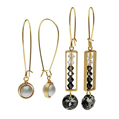 (Beadaholique Elegant Bead Frame Earring Duo in Evening Affair - Exclusive Jewelry)