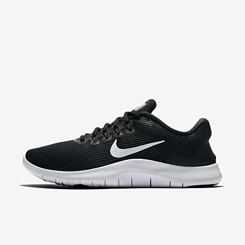 Nike Women's Flex RN 2018 Running Shoe Black/White Size 11 B US (Best Running Gear 2019)