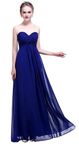 desmaid Chiffon Prom Dress Long Evening Gown Royal Blue 16 (Chiffon Prom Evening Gown)