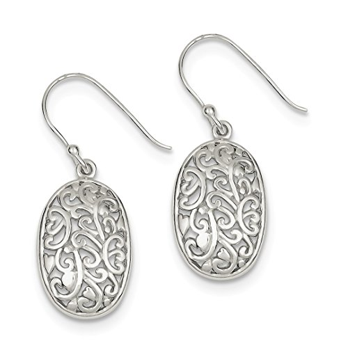ICE CARATS 925 Sterling Silver Filigree Drop Dangle Chandelier Earrings Fine Jewelry Ideal Gifts For Women Gift Set From ()