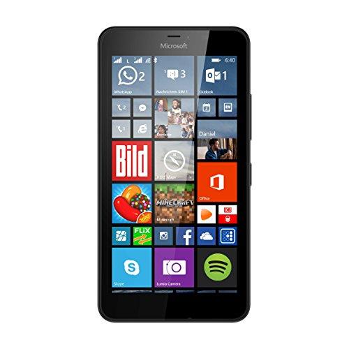 Microsoft Lumia 640 XL Dual-SIM LTE Smartphone (14,5 cm (5,7 Zoll) HD-LCD-Display, 1,2-GHz-Quad-Core-Prozessor, 13 Megapixel-Kamera, 3000 mAh Akku, 3G & 4G LTE, Dual-SIM, Windows Phone 8.1) schwarz