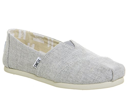 TOMS Women's Classic Slip-On (8 B(M) US, Drizzle Grey Slub Chambray) by TOMS