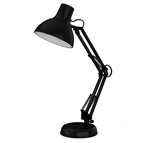 ToJane Metal Based Architect Desk Lamp Adjust Swing Arm with Extra Clamp(Black)