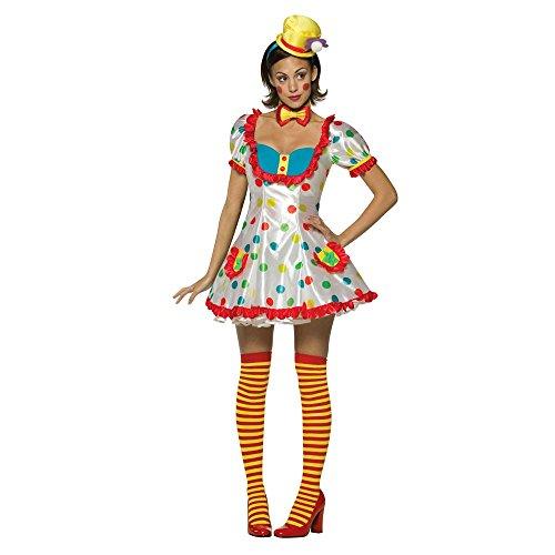 [Cute Clown Adult Womens Costume] (Cute Female Clown Costumes)
