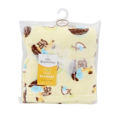 ft Fleece Baby Blanket, Noah's Ark Yellow (Noahs Ark Nursery Bedding)